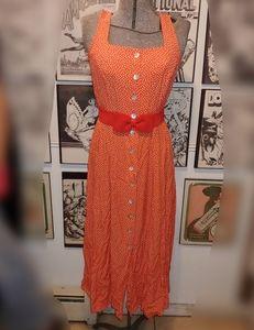 90s Style Polka Dots Sun Dress